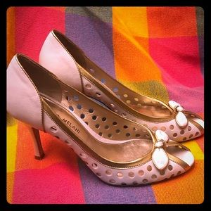 Cream & Gold Antonio Melani Dottie Heels Size 7